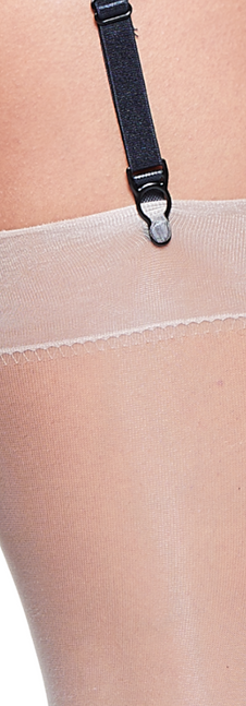 Leather Look Suspender Belt Close Up