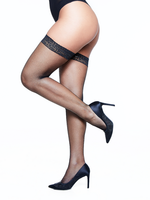 Lace Top Fishnet Hold Ups