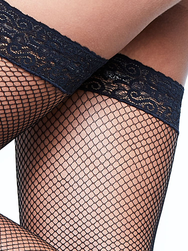 Fishnet Hold Ups Close Up
