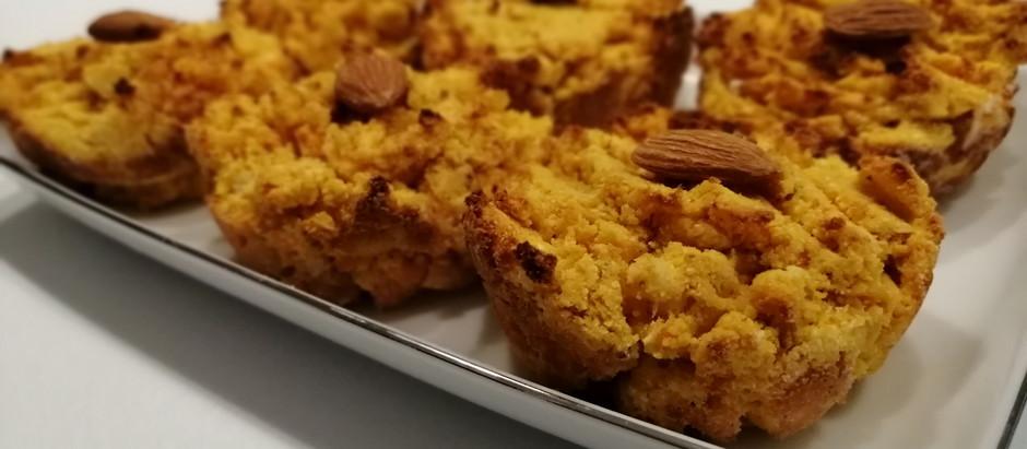 Muffin alle carote e mandorle senza zucchero e senza latte