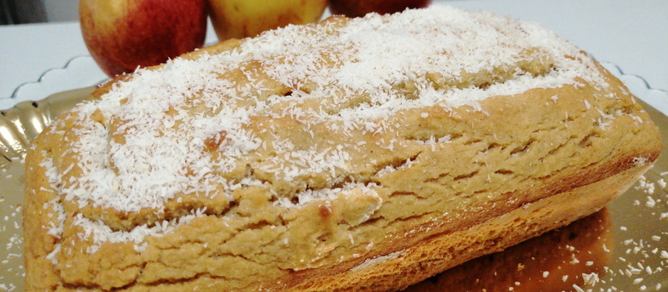 Plumcake al cocco e alle mele senza zucchero