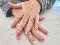 #nailsofinstagram #nails #nailart #flowe