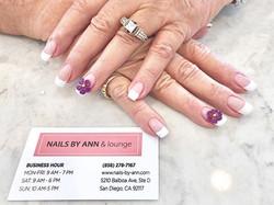 Purple flowers!💜_💅🏻 #fullsetnails #na