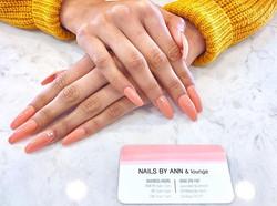 PEACHY 🍑_#blushnails #pinkacrylic #peac