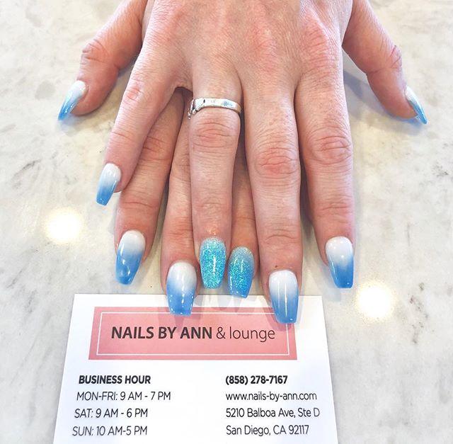 feelin a lil blue 💙_💅🏻 #fullsetnails
