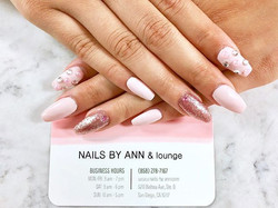 Prom nails 🌷_#prettynails #swarovskinai