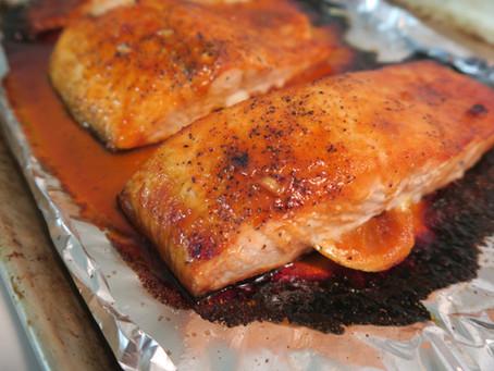 Recette : saumon à la sauce sriracha