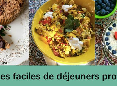 Recettes faciles de déjeuners protéinés