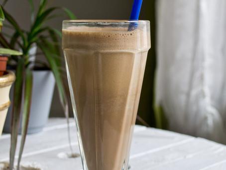 Recette de smoothie protéiné choco-café