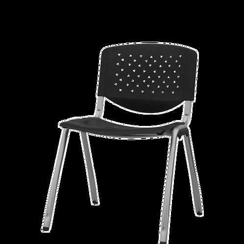 Silla Plastica de Espera TEXAS - Color Negro