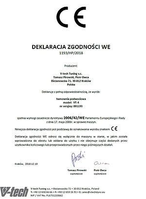 Certyfikat hamowni 4x4 vtech
