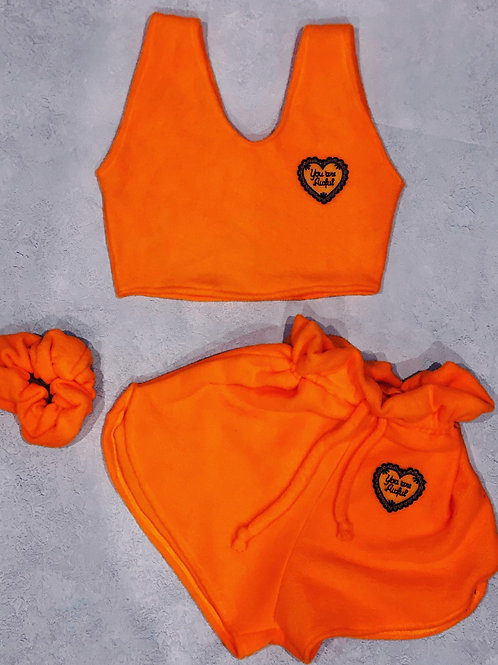 The orange you are awful crop loungesuit