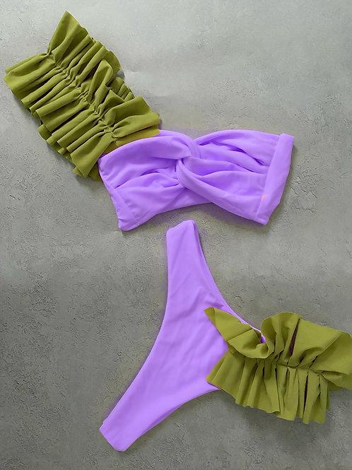 The ruffle thong bikini