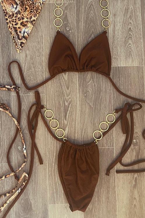 The chocolate chain triangle bikini