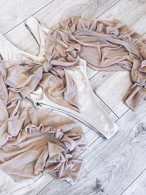 The ruffle mesh bodysuit