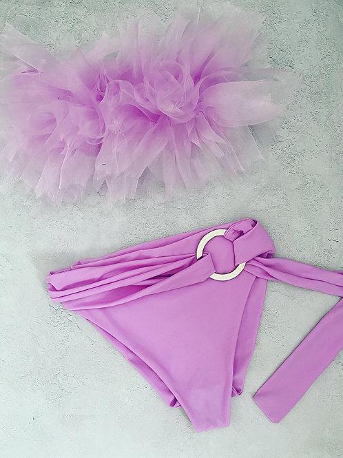 Ready to ship lilac ruffle bikini