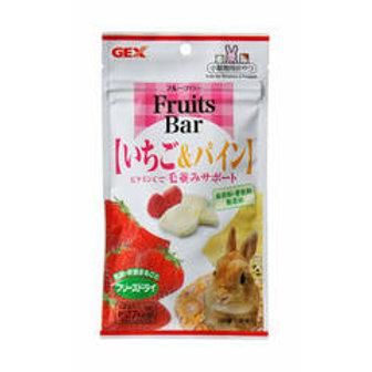 GEX Fruits Bar 新鮮菠蘿草莓凍乾