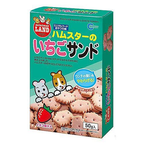 Marukan 草莓味夾心餅乾