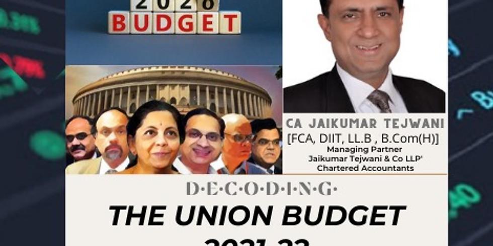 Understanding the Union Budget 2021-2022