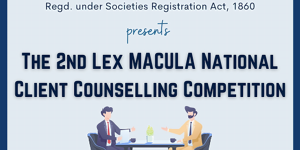 2nd Lex Macula National Client Counselling Competition