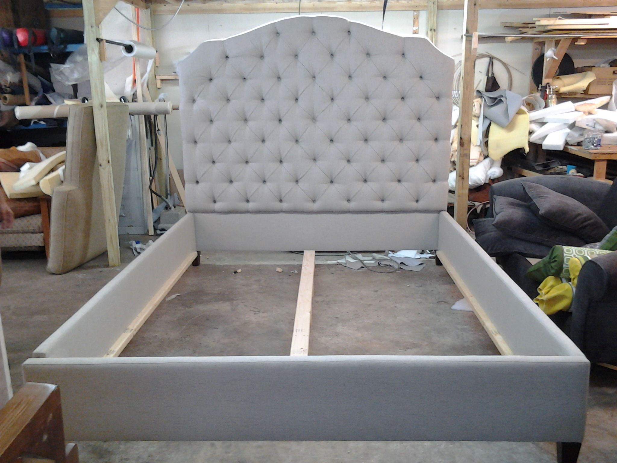 Tufted Headboard & Bed