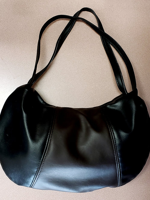 Black & Chocolate Leather Bag