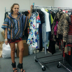 In the fashion closet.