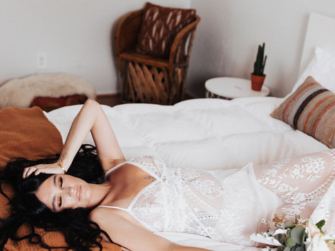 Bridal Boudoir at Casita de Cacti