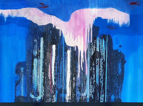 Then It Rained, 2021_Marion Flanagan_Acrylic and oil paint on canvas_30 in x 40 in_Low res