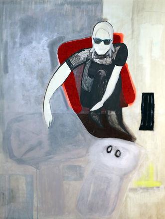 Self Portrait 2, Acrylic and oil paint,