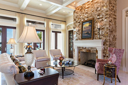 detailed fireplace in Florida home