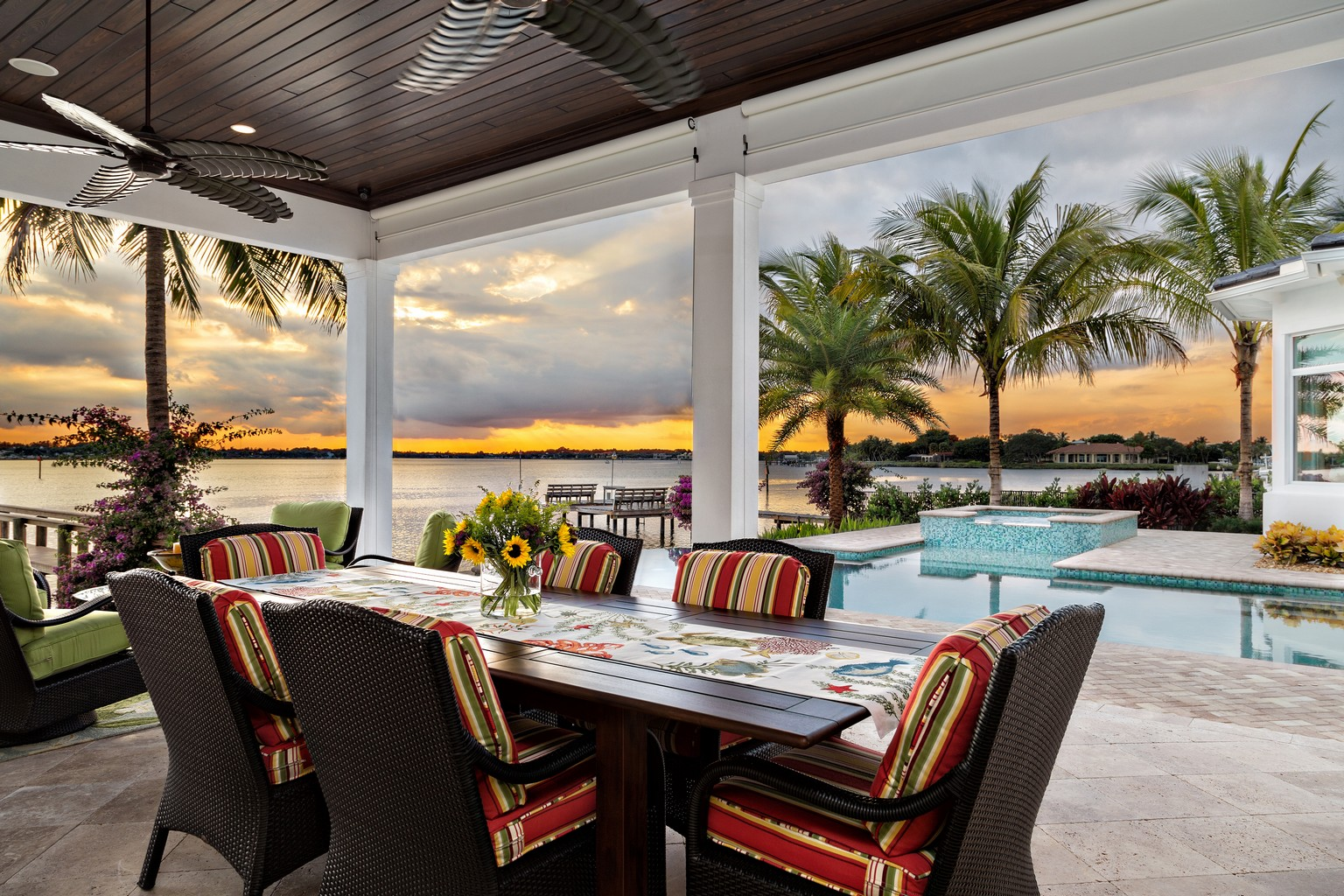 outdoor living space in Florida