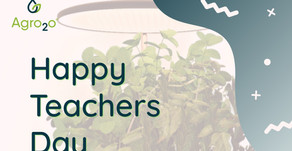 Happy Teacher's Day from Agro2o