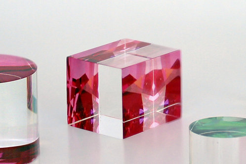 Pink Cube Paperweight