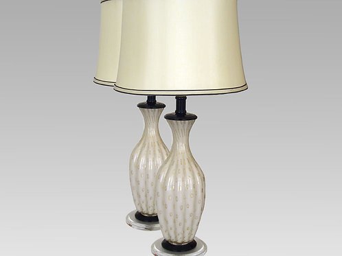 Pair of Barovier Toso lamps, 0049