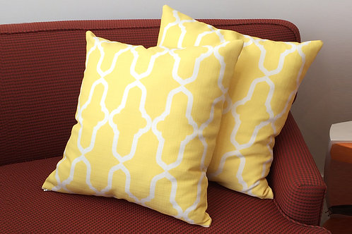 Yellow Morocco Pattern Pillows