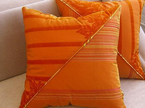 Pair of Dia Orange Pillows