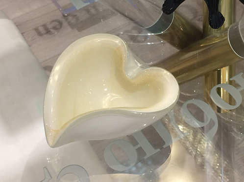 Vintage Heart-shaped Murano Glass Bowl, Mid-century