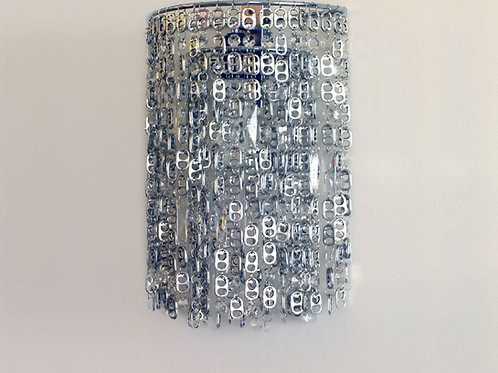 Pop-Top Sconces with crystal beads hanging