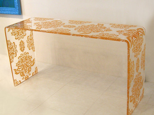 Baroque Lucite Consol Table