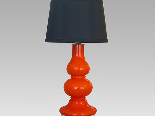 French Single Vintage Case Glass Lamp, Orange