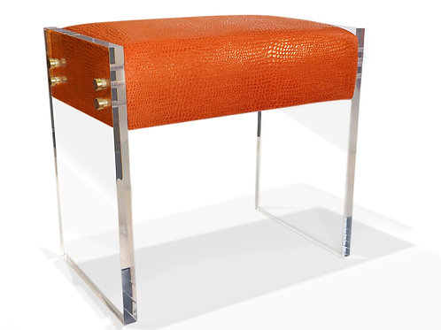 Claudia Bench, Orange, Custom