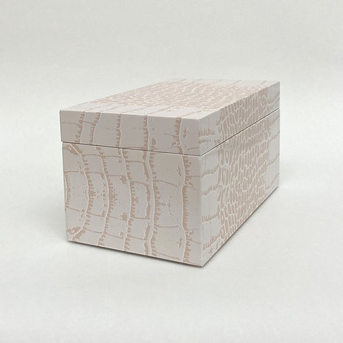 Pink Crocodile Pattern Wood Box