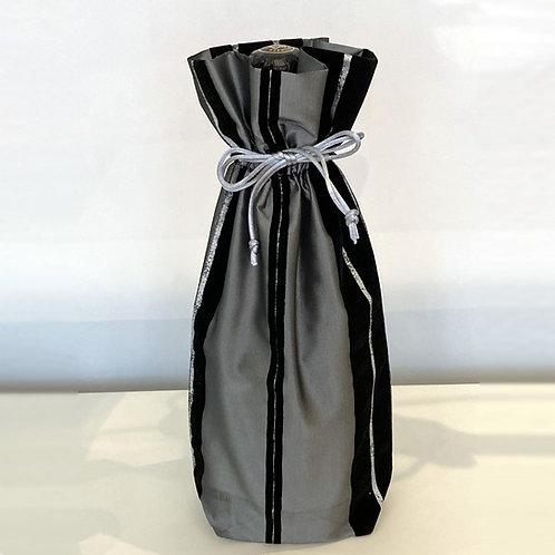 Black Stripes Wine Bag