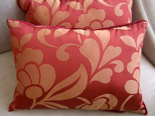 Pair of Pink Floweret Pillows
