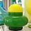 Thumbnail: Vintage Green Enesco Cased Glass, Mid Century Jar w/lid, 0298