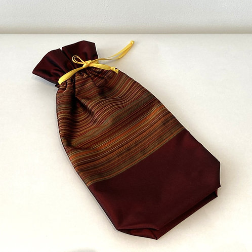 Wine Red Horizontal Stripes Bag