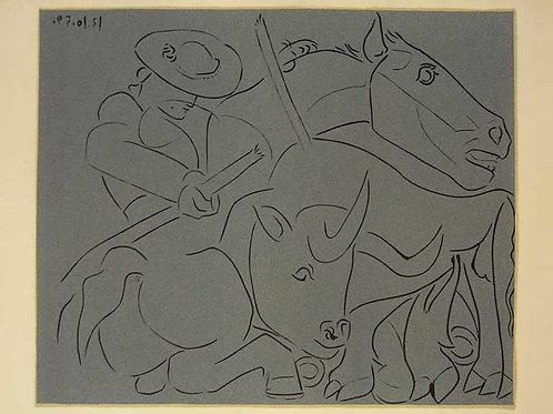 Picasso, Matador Bull Toro Horse