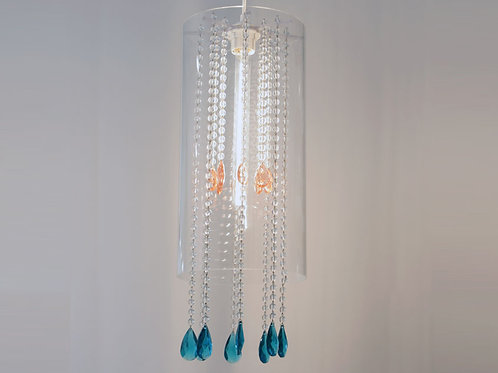 Lucite & Crystal Pendant