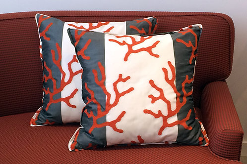 Pair of Terracotta Branches Pillows
